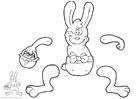 Laboratorio creativo coniglietto pasquale - marionetta