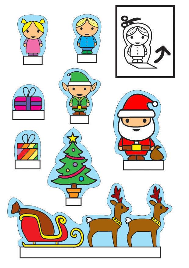 Creativit decorazioni di natale da ritagliare bimbi - Decorazioni natalizie da ritagliare ...