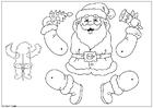 Laboratorio creativo marionetta di Babbo Natale