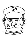 Laboratorio creativo maschera da poliziotto