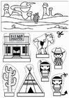 Laboratorio creativo vetrina cowboy e indiani
