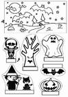 Laboratorio creativo vetrina di Halloween