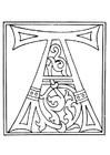 Disegno da colorare 01a.alfabeto A