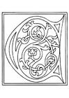 Disegno da colorare 01a.alfabeto C