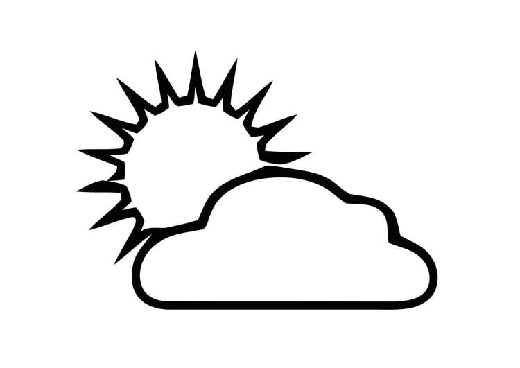 Disegno da colorare 01a nuvola e sole cat 11300 for Immagini sole da colorare