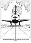 Disegno da colorare 04- atterraggio navetta spaziale