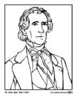 Disegno da colorare 10 John Tyler