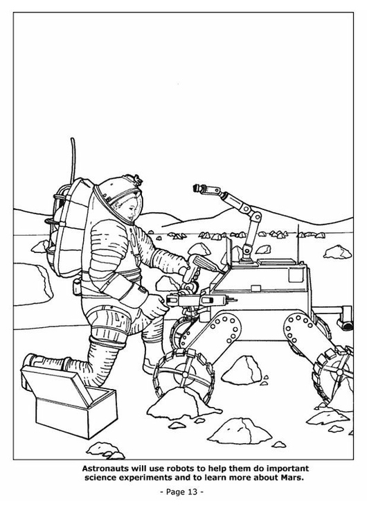 disegno da colorare 13 robot spaziali cat 4193