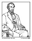 Disegno da colorare 16 Abraham Lincoln