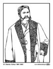 Disegno da colorare 21 Chester Arthur