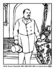 Disegno da colorare 22 - 24 Grover Cleveland