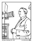 Disegno da colorare 29 Warren Harding