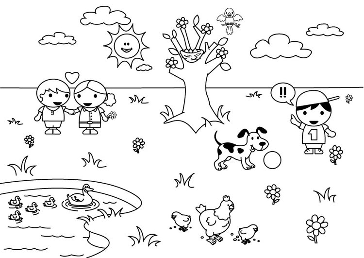 Disegno Da Colorare 2b Primavera Cat 26894