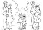 Disegno da colorare 3. genitori con il nuovo partner