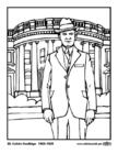 Disegno da colorare 30 Calvin Coolidge
