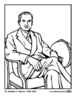 Disegno da colorare 31 Herbert C. Hoover