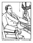 Disegno da colorare 32 Franklin Delano Roosevelt