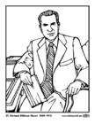 Disegno da colorare 37 Richard Milhous Nixon