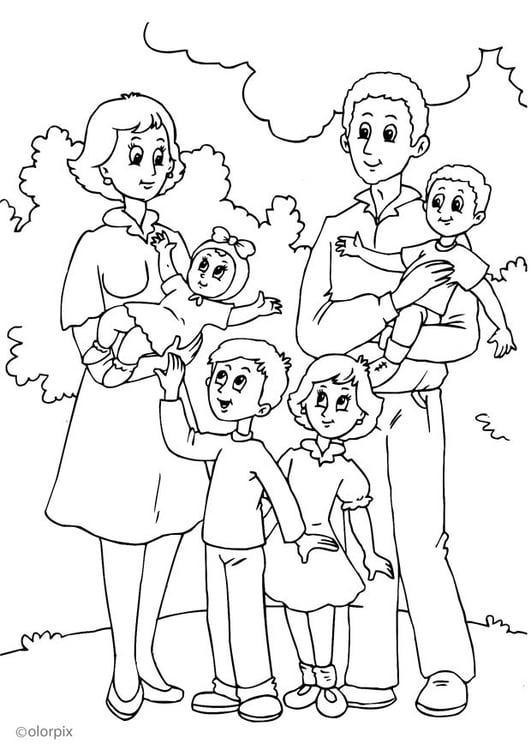 Disegno Da Colorare 4 Nuova Famiglia Di Mamma Disegni Da