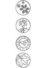 Disegno da colorare 4 stagion - simboli