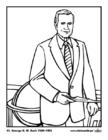 Disegno da colorare 41 George H. W. Bush
