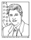 Disegno da colorare 42 William (Bill) Jefferson Clinton