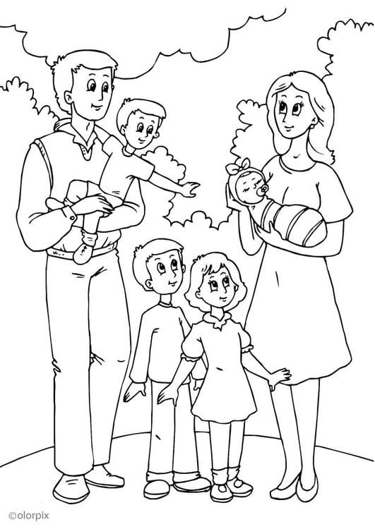 Disegno Da Colorare 5 Nuova Famiglia Di Papa Disegni Da