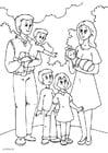 Disegno da colorare 5. nuova famiglia di papà