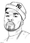 Disegno da colorare 50 Cent