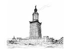 Disegno da colorare 7 meraviglie del mondo - faro di Alessandria