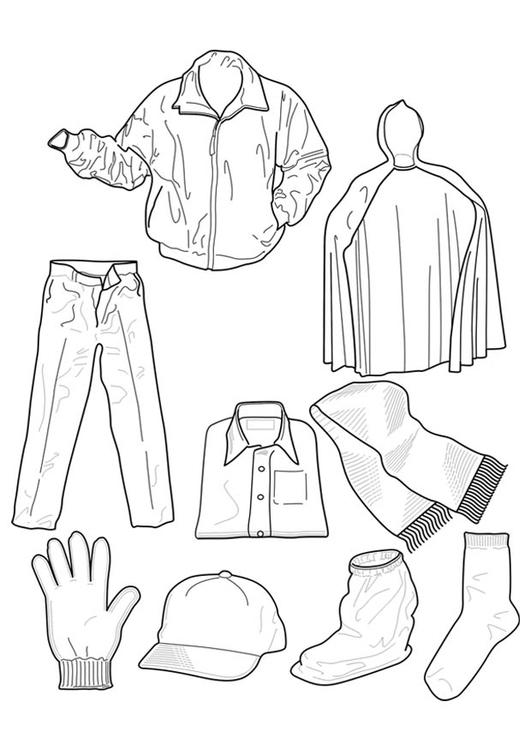 Disegno Da Colorare Abbigliamento Disegni Da Colorare E Stampare