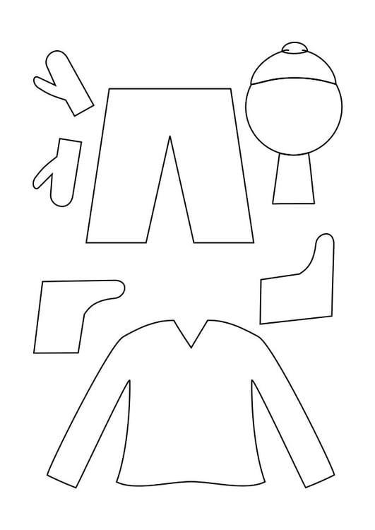 Disegno da colorare abbigliamento invernale - Cat. 29334. 4c58e63062b