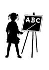 Disegno da colorare ABC