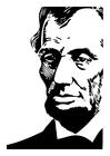 Disegno da colorare Abraham Lincoln