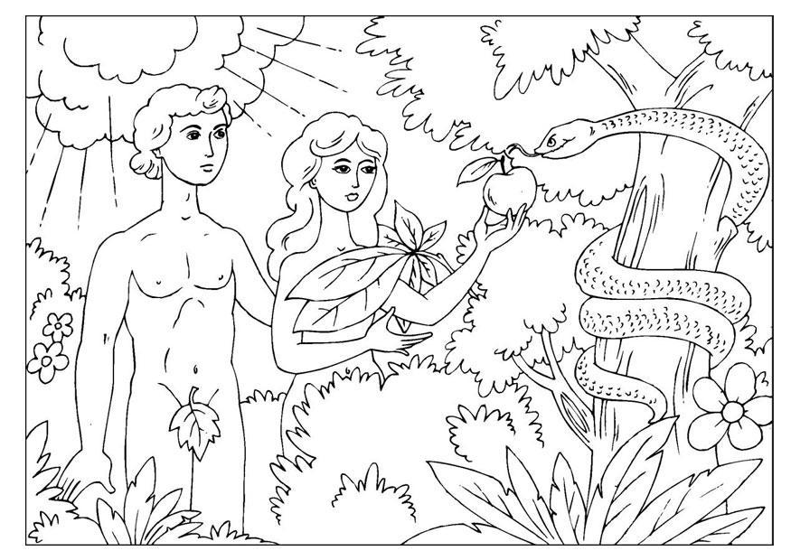 Famoso Disegno da colorare Adamo ed Eva - Cat. 25966. HS72