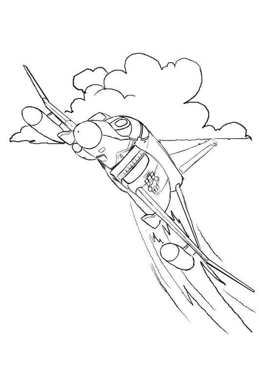 Aereo Da Caccia Disegno : Disegno da colorare aereo caccia cat