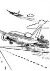 Disegno da colorare aereoplano - inquinamento