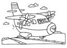 Disegno da colorare aereoplano