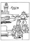 Disegno da colorare aereoporto