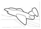 Disegno da colorare aeroplano