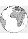 Disegno da colorare Africa - Europa