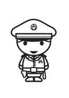 Disegno da colorare agente di polizia