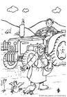 Disegno da colorare agricoltore