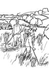 Disegno da colorare agricoltori