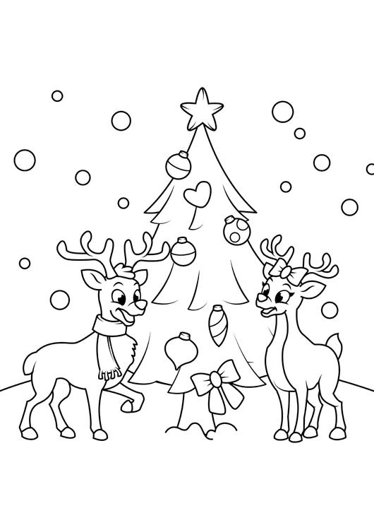Disegni Da Colorare Gratis Di Natale.Disegno Da Colorare Albero Di Natale Con Le Renne Disegni Da Colorare E Stampare Gratis Imm 31079
