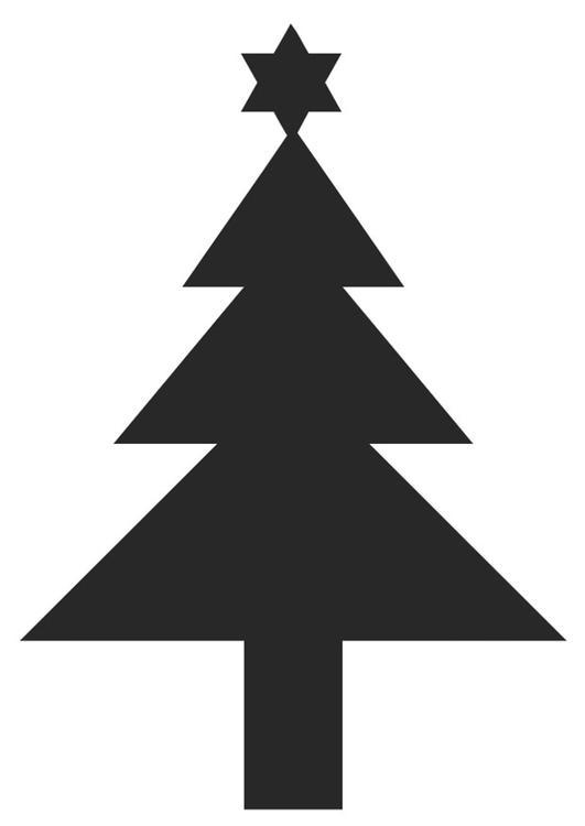 Disegno Da Colorare Albero Di Natale Con Stella Cat 20404