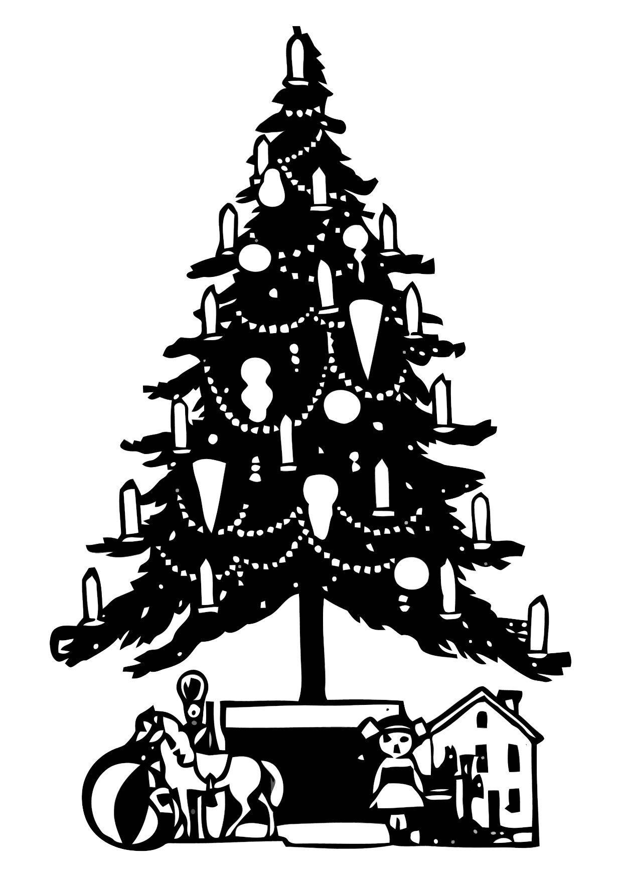 Disegno Da Colorare Albero Di Natale Cat 11333