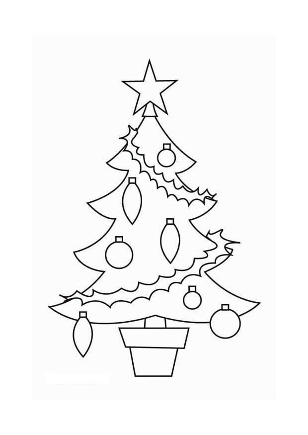 Disegno da colorare albero di natale cat 16537 - Agrifoglio immagini a colori ...