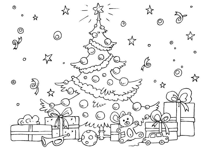 Disegni Da Colorare Natale Alberi.Disegno Da Colorare Albero Di Natale Disegni Da Colorare E Stampare Gratis
