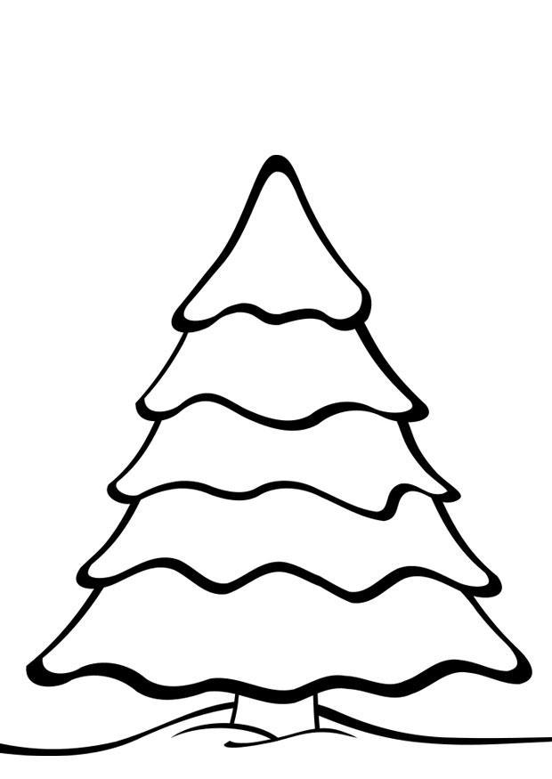 Disegno Da Colorare Albero Di Natale Cat 28169